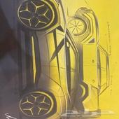 لامبورجيني رسمه اصليه من المصنع والمصمم