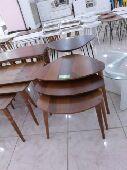 طاولات خشب 3قطع صناعة تركية