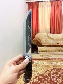 سكين روسي من قرن اصلي ماعز جبلي