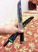 سكين روسي من قرن طبيعي
