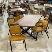 طاولات طعام تركي خشب قوي درجة اولى سطح فايبر