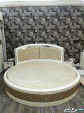 سرير كبير دائري بمرتبه