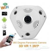 كاميرا 360 لمشاهدة الغرفه بشكل كامل بوضوحHD
