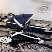 عربة أطفال فونتين بمظلة من جيجلز قيمة البيع 600 ريال جديده