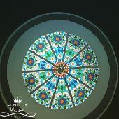 قبب الزجاج المعشق وشبابيك الالمنيوم0507160663