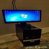 كمبيوتر مكتبي بيسي pc HP cor2 مع شاشه سامسونج