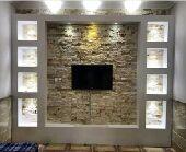 ديكورات جدران شاشة