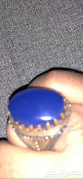 خاتم عقيق يمني ازرق