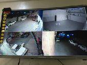 4 كاميرات مراقبة 2 ميغا مع التركيب 1400 ريال