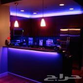 متوفر الآن - جهاز إضاءة LED طول 5 متر 20 لون