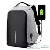 حقيبة ذكية ضد السرقة الشنطة بمنفذ USB ألوان