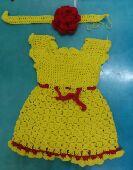 فستان لبنت عمرها 6اشهر لسنتين