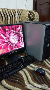عرض على كمبيوتر مكتبي معا طابعه و طاوله جديده