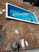 احواض برك سباحة فيبر جلاس