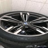 جنوط BMW للبيع نظيفة جدا بكفراتها