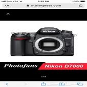 كاميرا احترافية متغيرة العدسات Nikon7000D مع عدسة جبارة