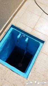 عزل خزانات المياه كشف تسربات عزل خزانات