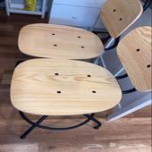 2 كرسي مكتب و رجل طاولة بعجله ايكيا