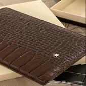 محفظة مون بلان اصليه جلد طبيعي ( تم البيع )