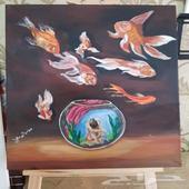 لوحة( الأسماك )