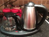 غلاية ماء وسخان شاي بقاعدة واحدة ب 100 ريال