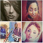 اهداء لوحة زيتية مرسومة لاعزائكم رسام