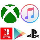 PlaySation Xbox Nintendo ITunes Google Play