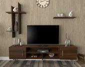 طاولات تلفاز SHTV15 بني وأبيض