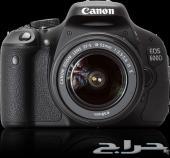 كاميرا كانون d600 شبه جديده