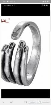 خاتم فضه علي شكل يد