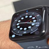 ساعة ابل الاصدار السادس 6 مقاس 44 استخدام اسبوع مع الفاتورة