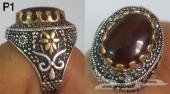 خاتم عقيق يمني مميزة