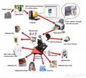 ماكينة K8 طباعة التيشيرت والدوع والاكواب كأنها وكالة دعاية واعلان متكاملة
