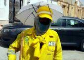 5 ريال فقط مظلة للرأس تحمي من الشمس.  ء