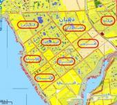 للبيع أرض بمخطط الجزيرة شارعين منها شارع 30