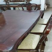 طاولة طعام 8 كراسي ويمكن تعديلها 6 كراسي
