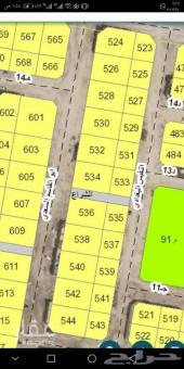 لبيع ارض ركنيه بمخطط 92 حي الشراع 875 م موقع.