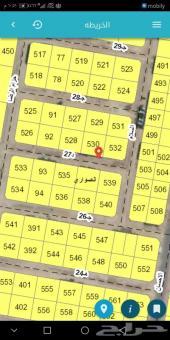 للبيع ارض بمخطط 43 ج 625 م مسوره