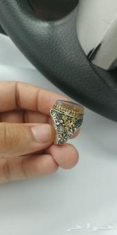 خاتم فضه وعقيق يمني