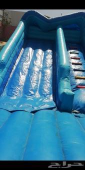 استراحة للايجار مسبح زحليقة هوائية ملعب صابون