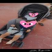 عربية أطفال تؤام اسود رمادي