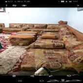 مجلس كنب  غرفه نوم كامله  مكيف اسبليت 24 ل جي