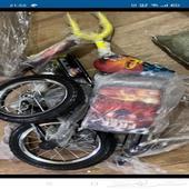 دراجة سيكل للاطفال جديدة بالكرتون لم تستخدم