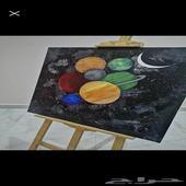 لوحة رسمة كواكب