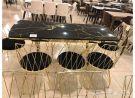 طاولات طعام 8 كرسي صناعه تركي زجاج حراري