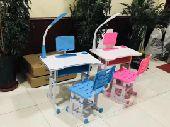مكتب دراسي للاطفال ( طاولة مع كشاف وكرسي)