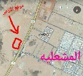 أرض تجاريه علي خط الرياض مقابل المشعليه