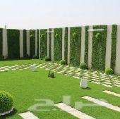 تنسيق حدائق تيل صناعى طبيعي عشب جدارى ديكور
