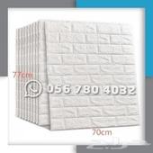 ملصق لديكوروالجدران بتصميم طوب ثلاثي الابعاد