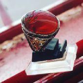 خاتم عقيق احمر شجري